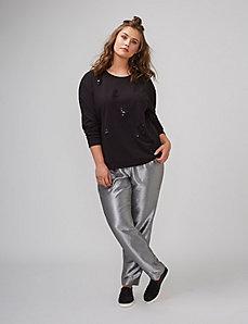 Distressed Sequin Sweatshirt