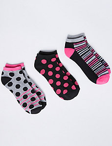 Dot & Stripes Sport Socks 3-Pack