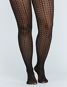 Pointelle Sweater Knit Tights