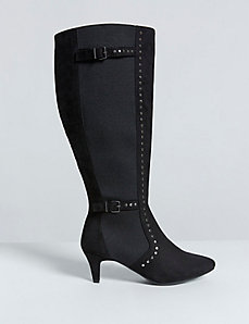 Kitten Heel Studded Boot