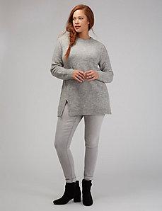 Split-Hem Tunic Sweater