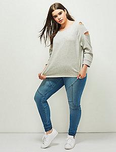 6th & Lane Slash Sleeve Sweatshirt