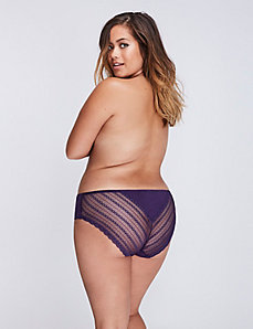 Sassy Cotton Hipster Panty with Lace Back