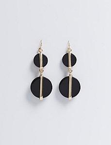 Double Acrylic Circle Drop Earrings