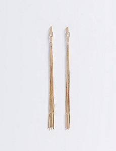 Long Linear Fringe Earrings