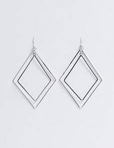 Double Diamond Wire Earrings