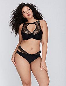 Eyelash Lace & Mesh Bikini Panty
