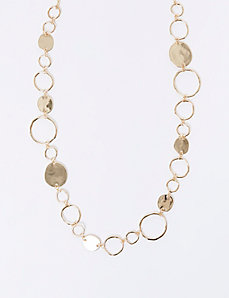 Long Linked Circles Necklace