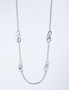 Long Station Necklace with Oval Links