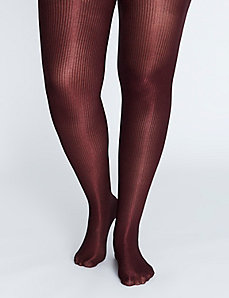 Metallic Ribbed Tights