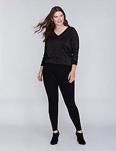 Metallic Multi V-Neck Sweater