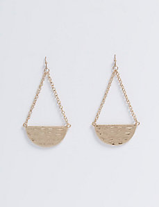Hammered Half Circle Earrings