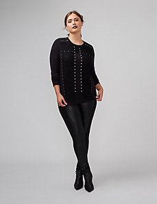 Studded Top with Lace