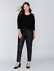 Lena Sexy Stretch Foil Ankle Pant