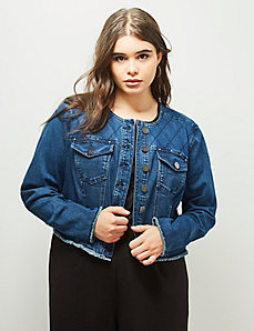 6th & Lane Studded Denim Jacket