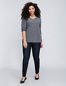 Long-Sleeve V-Neck Supima Tee
