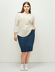 6th & Lane Studded Denim Skirt