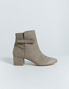 Bow Ankle Boot with Block Heel