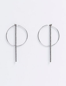Hoop Earrings with CZ Sticks