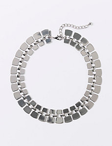 Metal Chain Collar Necklace
