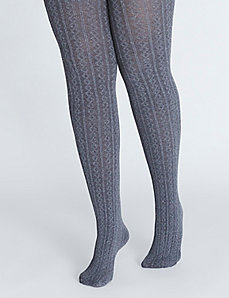 Heathered Cable Rib Tight