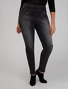 Faded Black Destructed Skinny Jean