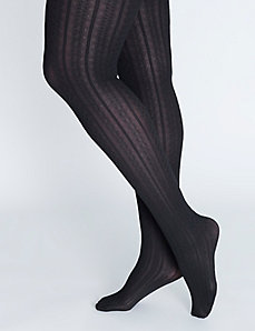 Cable Ribbed Tights