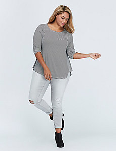 3/4-Sleeve Swing Top