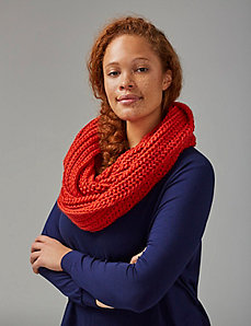 Shaker Knit Eternity Scarf