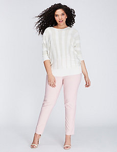 Metallic Striped Dolman Sweater