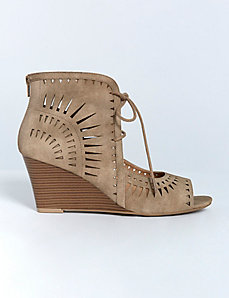 Cutout Peep-Toe Wedge