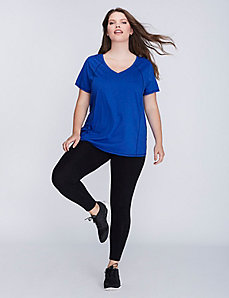 Cotton Blend Wicking V-Neck Active Tee