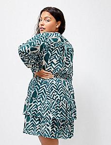 6th & Lane Zebra-Print Tiered Skirt