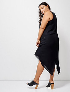 6th & Lane Asymmetrical-Hem Dress