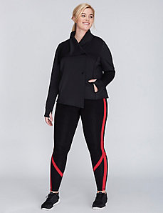Asymmetrical Drape-Neck Active Jacket
