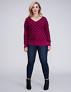 Mitered Double V Sweater