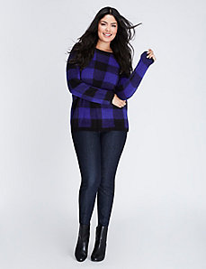 Plaid Jacquard Sweater