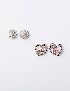 Breast Cancer Awareness Earrings Duo