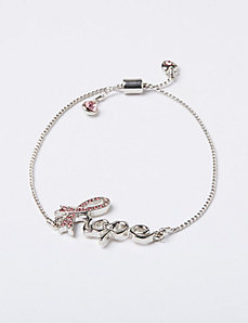 Breast Cancer Awareness Adjustable Hope Bracelet