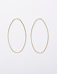 Large Oval Post Earrings