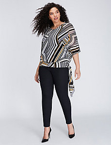 Side-Tie Top with Banded Bottom