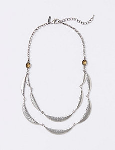 2-Row Half Moon Statement Necklace