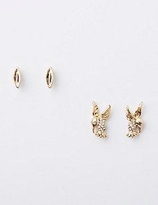 Hummingbird & Leaf Earrings Duo