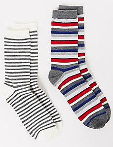 Striped Crew Socks 2-Pack
