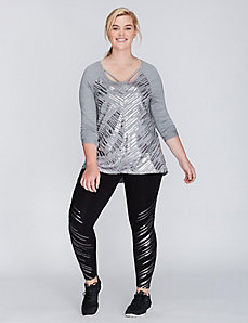 Strappy Long-Sleeve Active Tee