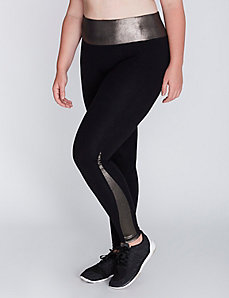 Signature Stretch Active Legging with Foil Insets