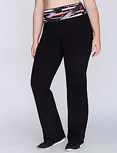 Signature Stretch Active Yoga Pant with Printed Waistband