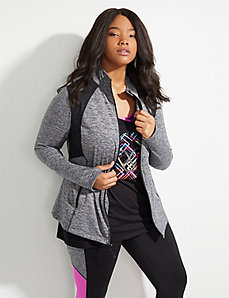 Wicking Active Jacket with Brushed Fabric