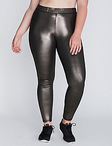 Gunmetal Foil Active Legging