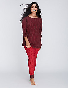 Holiday Dot Thermal Long-Sleeve Tee & Legging PJ Set